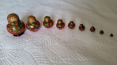 3 sets of Russian messing dolls