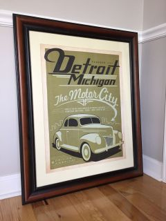 Framed Detroit Poster by Anderson Design Group