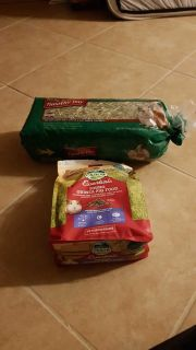 Pet food and hay
