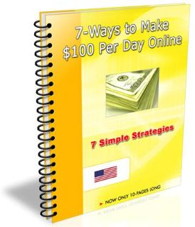 Free e-book to make $100 a day or more