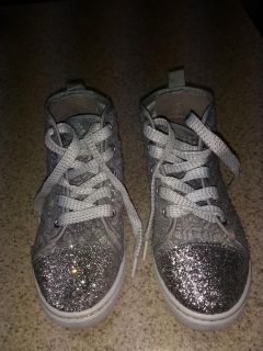 NWOT Silver Bling girls high tops size 13