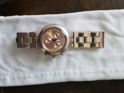 Swatch Rose gold women's watch
