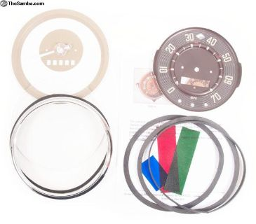 Bus Speedometer Restoration Kit T1 1955 up to 1958