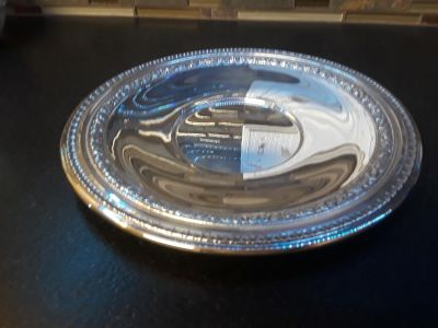 VINTAGE REED & BARTON 1201 SILVERPLATED ROUND SERVING TRAY