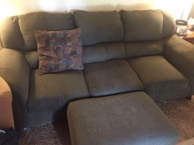 Couch, love seat, and ottoman