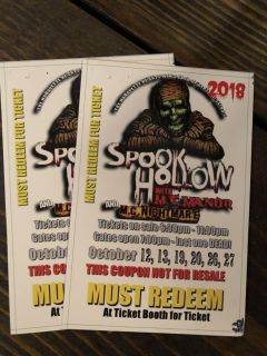 2 spook hollow tickets
