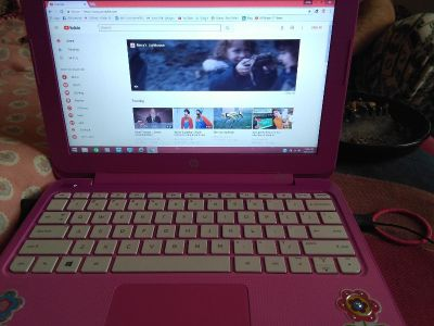 Hp 11 stream laptop plays good touchpad doesn't work has mouse that comes with it