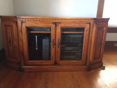 TV Stand. L-50 , W-28 1/4 , H-25 . First come, no holds. $250