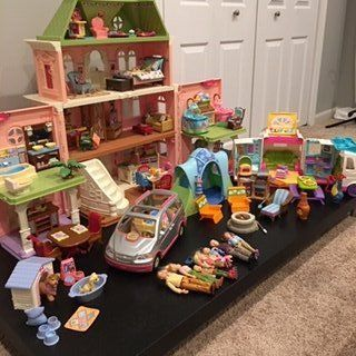 HUGE LOT of Loving Family dollhouse and accessories
