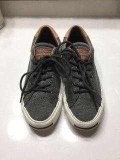 Converse gray brown leather 7.5 Jack Purcell sneakers