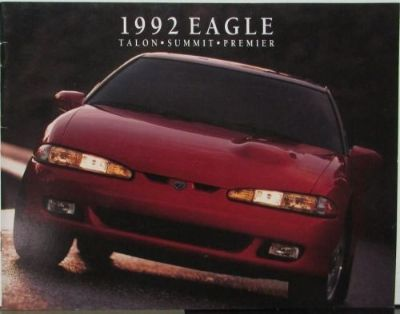 Buy 1992 Eagle Talon Summit Premier Color Sales Brochure Original motorcycle in Holts Summit, Missouri, United States, for US $13.92