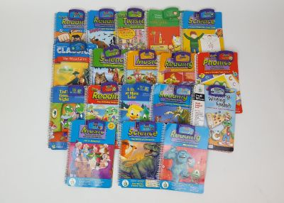 Lot of 18 Leappad Books and Cartridges