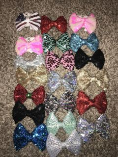 Justice Bows New and like New! 21 Pc Lot