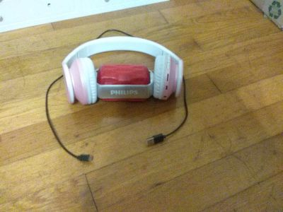 Bluetooth headphones and speaker with charger