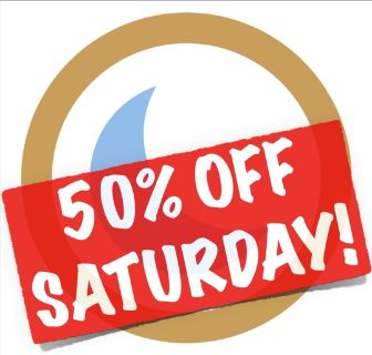 50% OFF SATURDAY!!! Blue Moon Sale in..