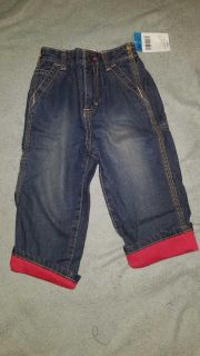 24 month flannel lined jeans nwt