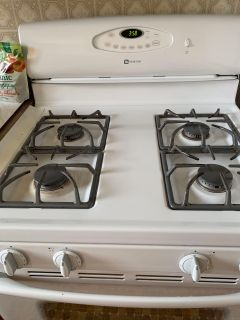 Maytag gas stove / kitchenAid toaster oven / Danby Microwave