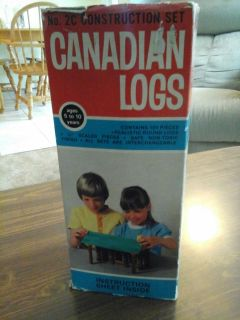 "Vintage Canadian ""Lincoln logs"""