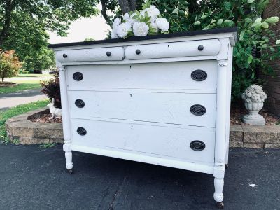 Gorgeous vintage Farmhouse Dresser Buffet Credenza with stunning Detail