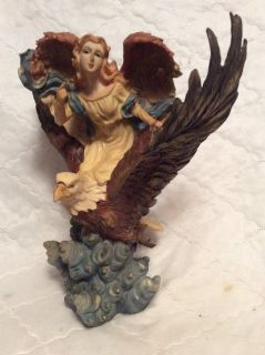 Sculpture: Angel Riding an Eagle