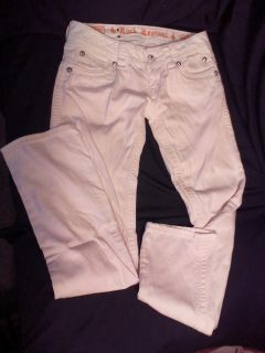 Small sz 26 Rock Revival white jeans. Very good used condition. Heather Straight style. More pics in comments.