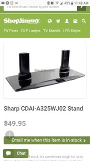 Sharp Aquos tv stand, NEW IN BOX