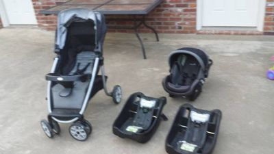 Safety 1st onBoard 35 infant carseat, 2 bases, and stroller