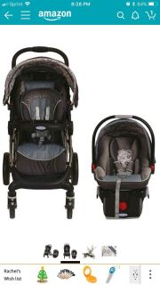 Car seat stroller combo with 2 car bases