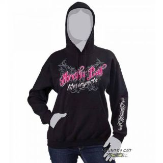 Find Arctic Cat Women's Motorsports Wings Hoodie Hooded Sweatshirt - Black - 5253-82_ motorcycle in Sauk Centre, Minnesota, United States, for US $28.99