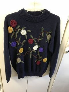 Awesome Navy L/s Sweater Sz L
