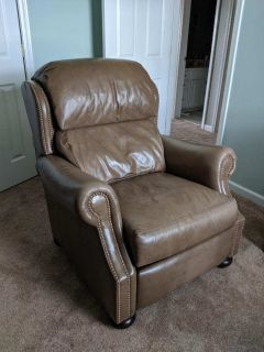 Genuine leather reclining chair