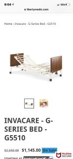 Hospital bed Invacare g series
