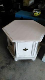 Shabby Chic Octagon End Table