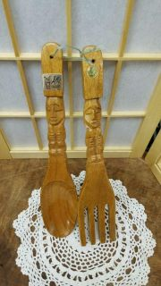 Carved fork and spoon