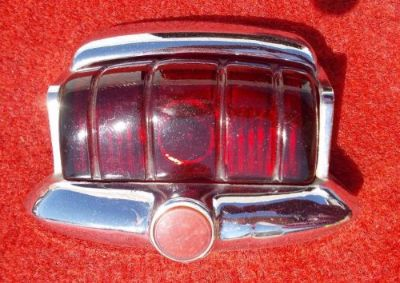 Find 1946 1947 1948 Plymouth Tail Light Lens and Chrome Bezel Very Nice Used GM MOPAR motorcycle in Great Bend, Kansas, United States, for US $29.99