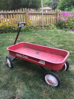 Vintage Radio Flyer 90 Metal Wagon