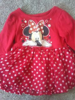 2t minnie mouse top