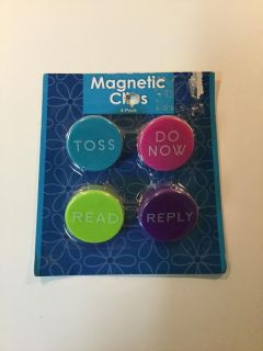 Magnetic Clips 4 Pk *NEW
