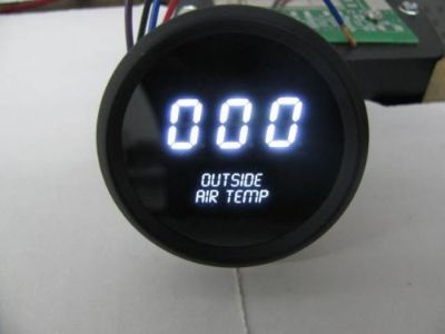 Purchase Digital OUTSIDE AIR TEMPERATURE GAUGE W/ Sender WHITE LEDs BLACK BEZEL Warranty! motorcycle in Eastlake, Ohio, United States, for US $59.95