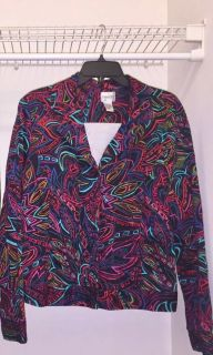 Brightly Colored Chico s Abstract Design Summer Jacket / Size 2