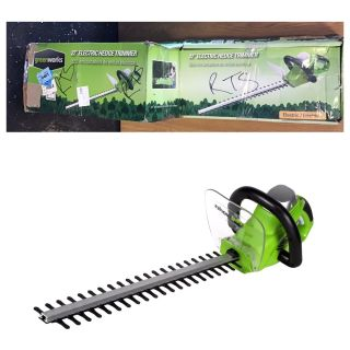 Greenworks 22-Inch 4A Corded Rotating Hedge Trimmer 2200102