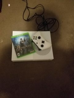 Xbox one with one game and controller