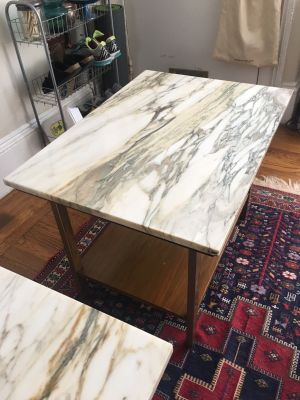 Paul McCobb End Tables w/Removable Marble Tops