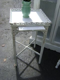 shabby chic chippendale tea table