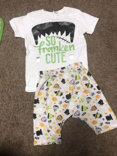 3t Halloween outfit shorts are harem style handmade from local shop