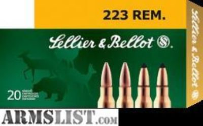 For Sale: .223 FMJ Sellier & Bellot Ammo
