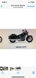 An used Harley Davison Heritage Classic year 2000 and up