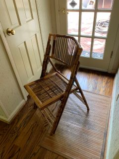 Bamboo folding chair like new
