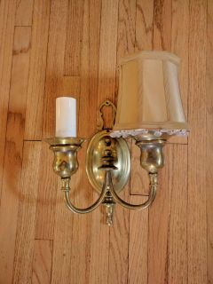 4 solid brass sconces