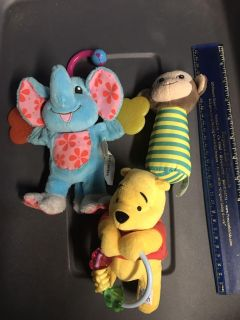 Lot of soft rattlers/teether. EUC